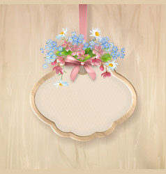 Floral sign board vector