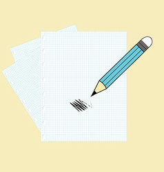 Paper and a pencil vector image vector image