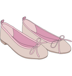 Pink ballet shoes vector image vector image
