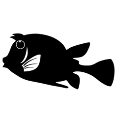 Silhouette of trunkfish vector image