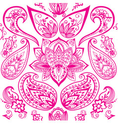 henna tattoo mehndi flower doodle ornamental vector image