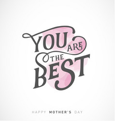 mothers day greeting card with pink elements vector image