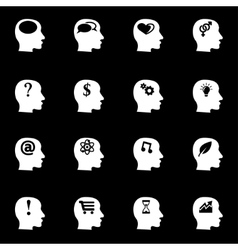 white thoughts icon set vector image