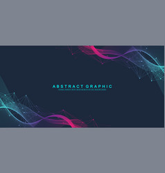 Abstract dynamic motion lines and dots background vector