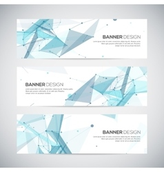 Abstract geometric banner design Geometric vector image
