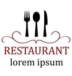 art restaurant icon for menu vector image