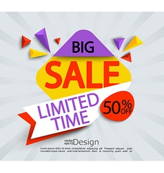 Big sale - limited time banner vector