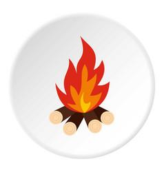 bonfire icon circle vector image