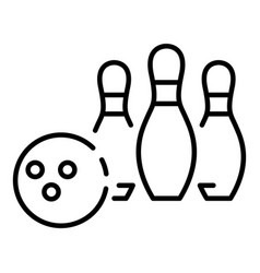 bowling competition icon outline style vector image