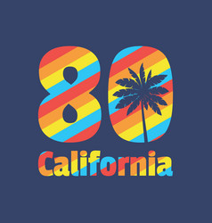 california 80 - concept in vector image