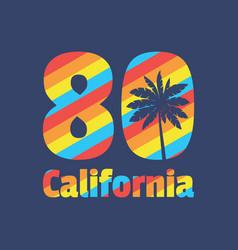california 80 - concept vector image