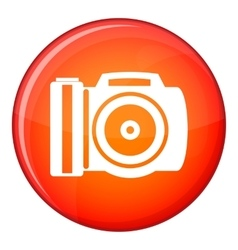 Camera icon flat style vector