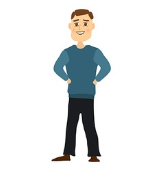 Cartoon dad vector