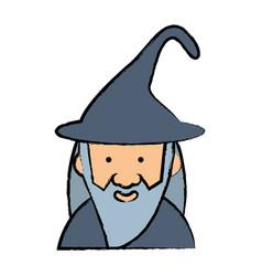 cartoon wizard icon image vector image