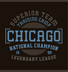 Chicago national champion vector