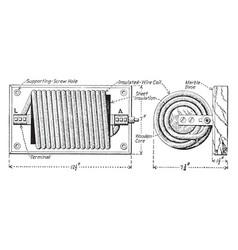Choke coil vintage vector