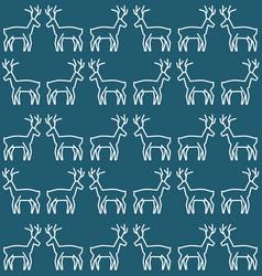 Christmas reindeer pattern vector