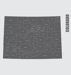 Colorado counties map vector