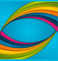 colorful abstract corporate waves vector image