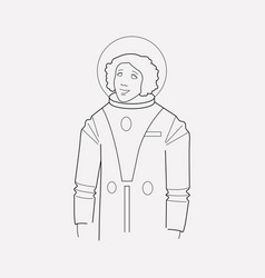 cosmonaut icon line element vector image