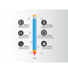 creative pencil infographic vector image