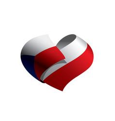 czechia flag vector image