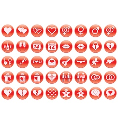 Day of Valentine icons vector image