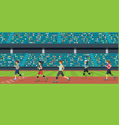 Disabled athletics vector