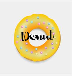 donut hand drawn bakery design pop art vector image