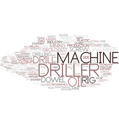 Driller word cloud concept vector