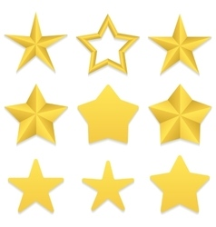 Five point stars collection vector image