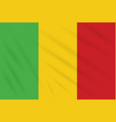 Flag mali swaying in wind realistic vector
