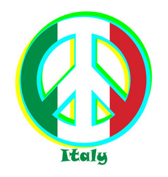 Flag of italy as a sign of pacifism vector
