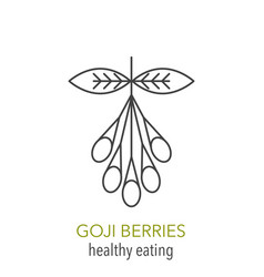 goji berries line icon vector image