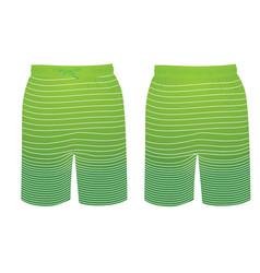 green summer shorts vector image