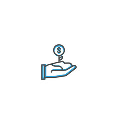growth icon design marketing icon line vector image