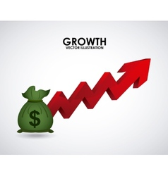 growth money vector image