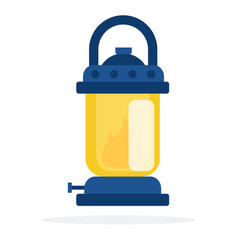 handle old lamp flat isolated vector image