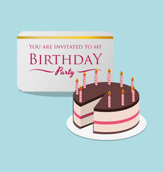 happy birthday card invitation event party vector image