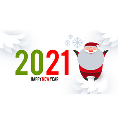 Happy ner 2021 year christmas design template vector