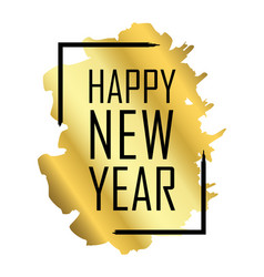 happy new year gold background vector image