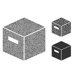 irregular goods box icon mosaic vector image