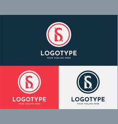 Letter sl ls modern gaming logo vector