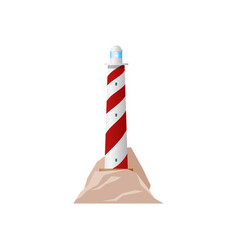 lighthouse beacon light retro sea nautical tower vector image