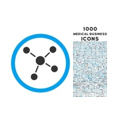 Links Rounded Icon with 1000 Bonus Icons vector image