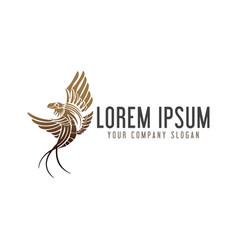 Luxury bird logo design concept template vector