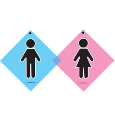men and women icon vector image