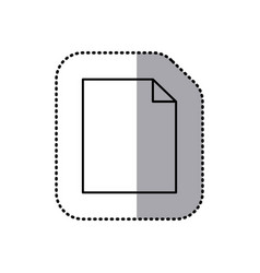 monochrome contour sticker of paper sheet icon vector image