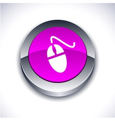 Mouse 3d button vector image