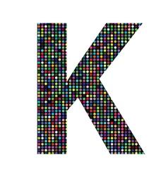 Multicolor letter K vector